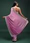 Wild Orchid Pink Ombre Saree In Satin Blend With Stone Work In Contemporary Border Design Online - Kalki Fashion
