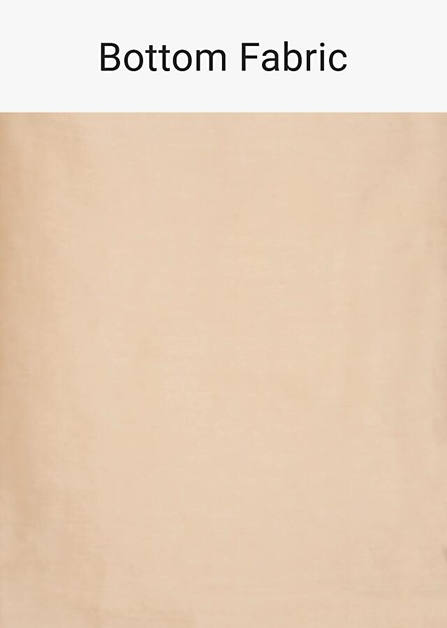 Beige Unstitched Suit In Cotton With Embroidery And Butti Online - Kalki Fashion