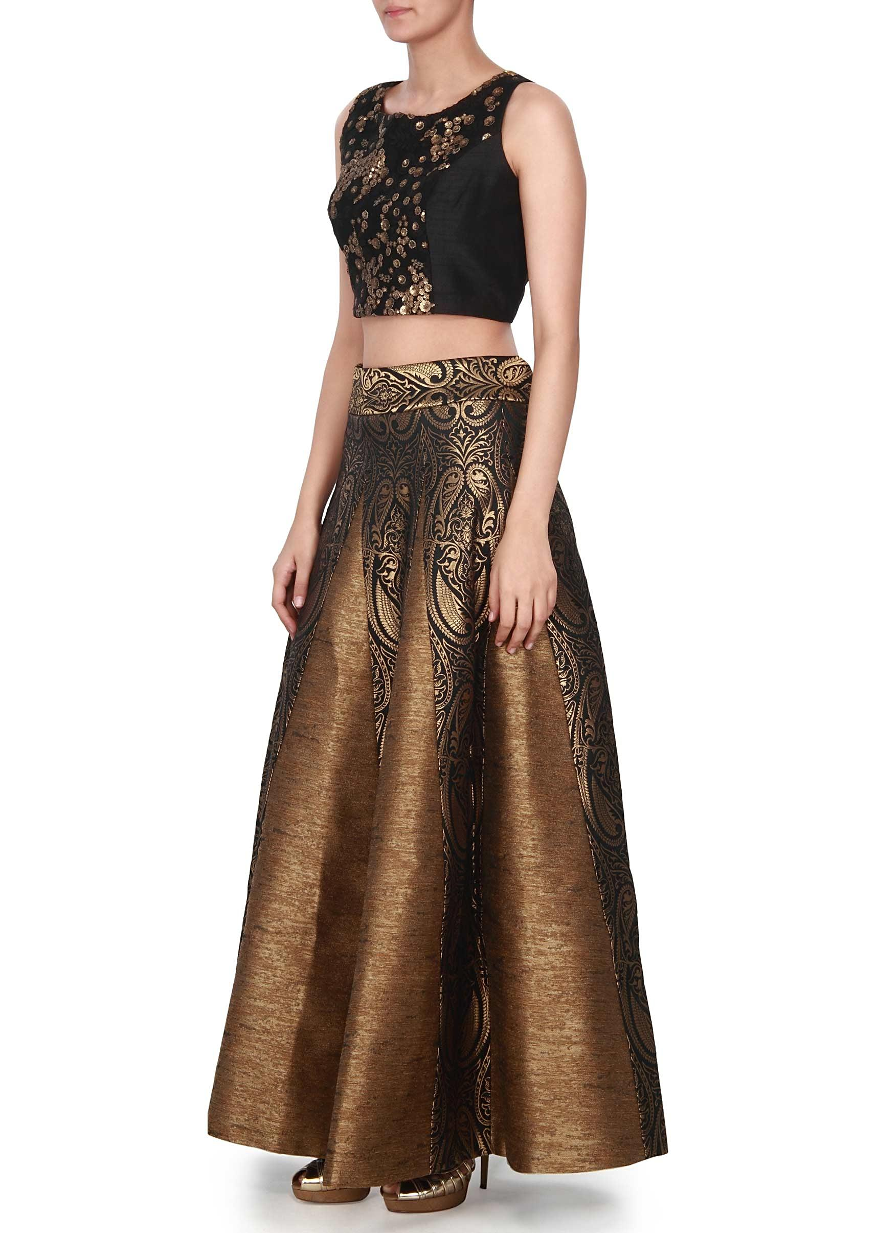 e58e96690 Black Long Skirt And Crop Top – DACC