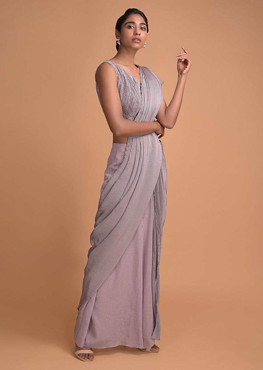 cloud-grey-ready-pleated-saree-embellished-with-sequins-and-feathers-online-kalki-fashion-501241_5_.jpg (853×1200)