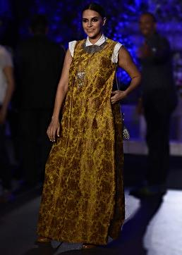 Neha Dhupia walks the ramp in Manish Malhotra Lakme Fashion week