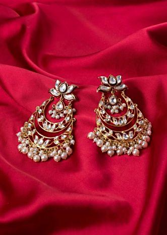 Double layer chandelier chandbali earring only on Kalki