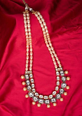 Double layer traditional pearl necklace