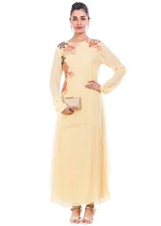 Double Layered Pastel Yellow Tunic
