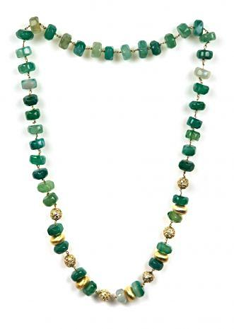 Elegant shaded green beaded necklace only on Kalki