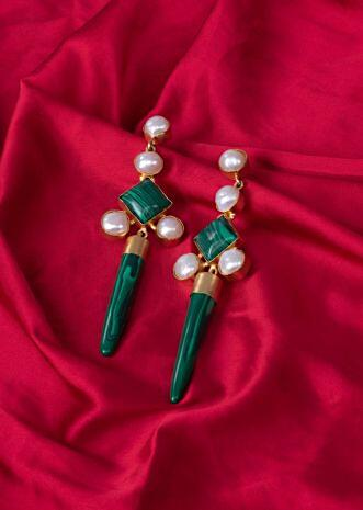 Fancy party wear long drop earrings only on Kalki