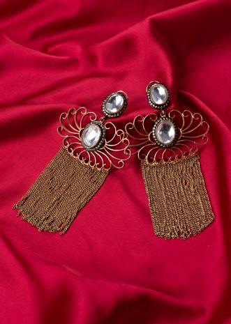 Filigree Style earring with  sleek tassel only on Kalki