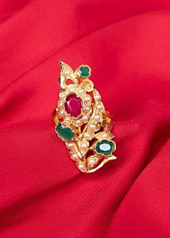Gold plated navratna ring only on Kalki