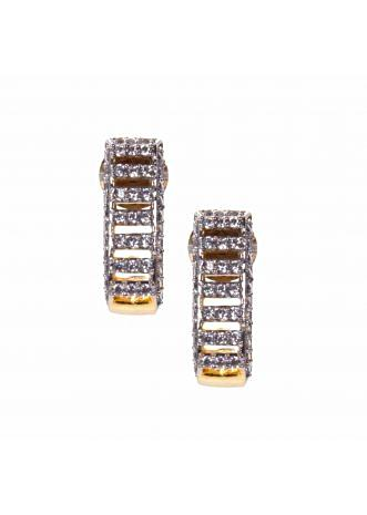gold plated studs in American stone  only on Kalki