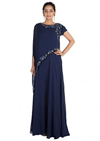 Indigo blue gown