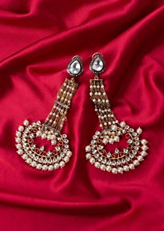 Long drop multi chain traditional earring only on Kalki