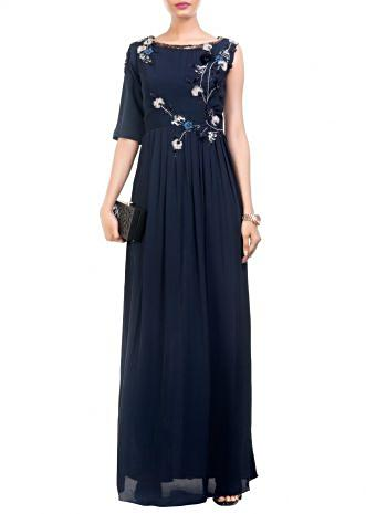 Midnight High Slit Maxi & Slim Fit Trouser Set