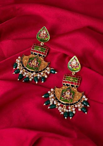 Navratna jadau earring only on Kalki