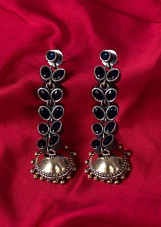 Oxidized peacock drop earring  only on Kalki