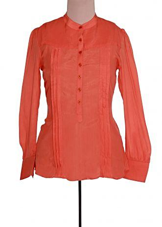 Peach tunic featuring with pleats only on Kalki
