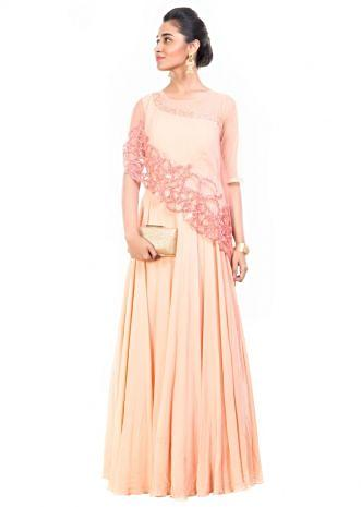 Rose Quartz Cape Gown