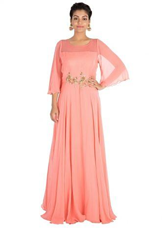 Rouge pink gown