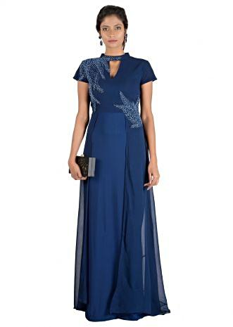 Royal Blue Double Layer Gown