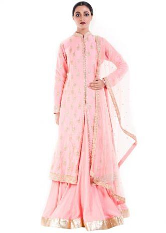 Royal Pink Jacket Lehenga Set