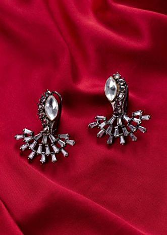 Silver coated earring with buggle bead only on Kalki