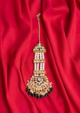 Traditional pasa in kundan and moti only on Kalki
