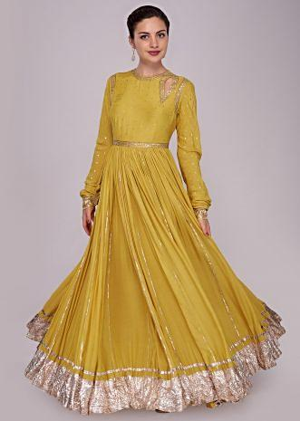 Tuscan yellow dress with embroidered bodice