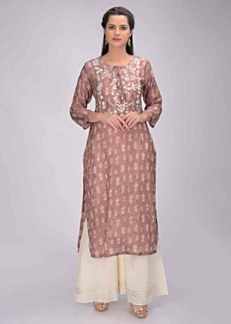 2cd9c8d085 Wild rose pink cotton kurti with printed buttis all over only on Kalki ...