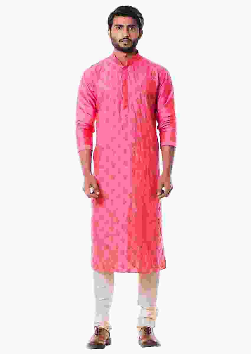 Pink Kurta Set Online - Kalki Fashion