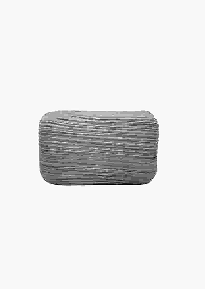 Violet Fibre Box Clutch Enhanced With Crushed Fabric By Pink Cocktail