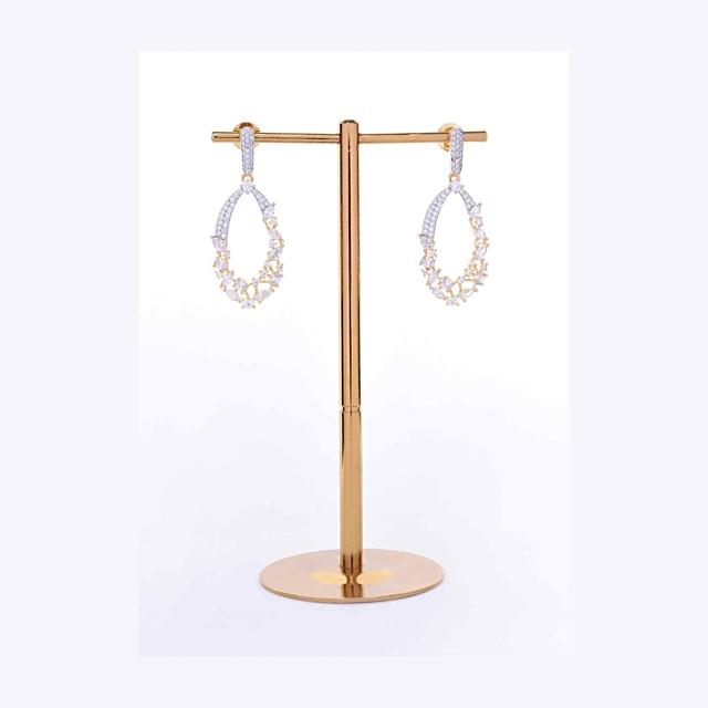Diamond and stone studded party wear dangler earring only on Kalki