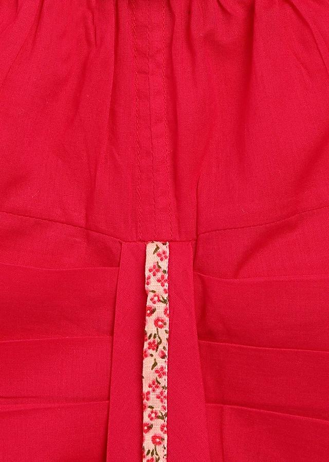Fuchsia Pink Dhoti Set With Floral Printed Angrakha By Tiber Taber