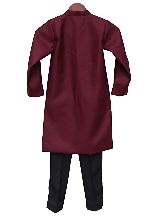 Maroon Ajkan with Pant By Fayon Kids