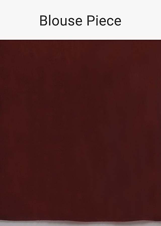 Maroon Saree In Net Heavily Embellished With Sequins And Paired With A Matching Unstitched Blouse Online - Kalki Fashion