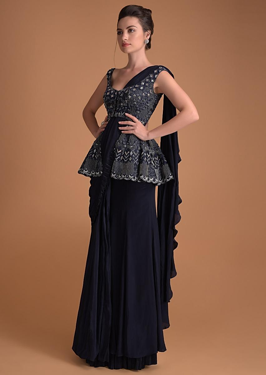 navy-blue-ready-pleated-saree-with-hand-crafted-peplum-blouse-online-kalki-fashion-m001tr203y-sg23252_6_.jpg (853×1200)
