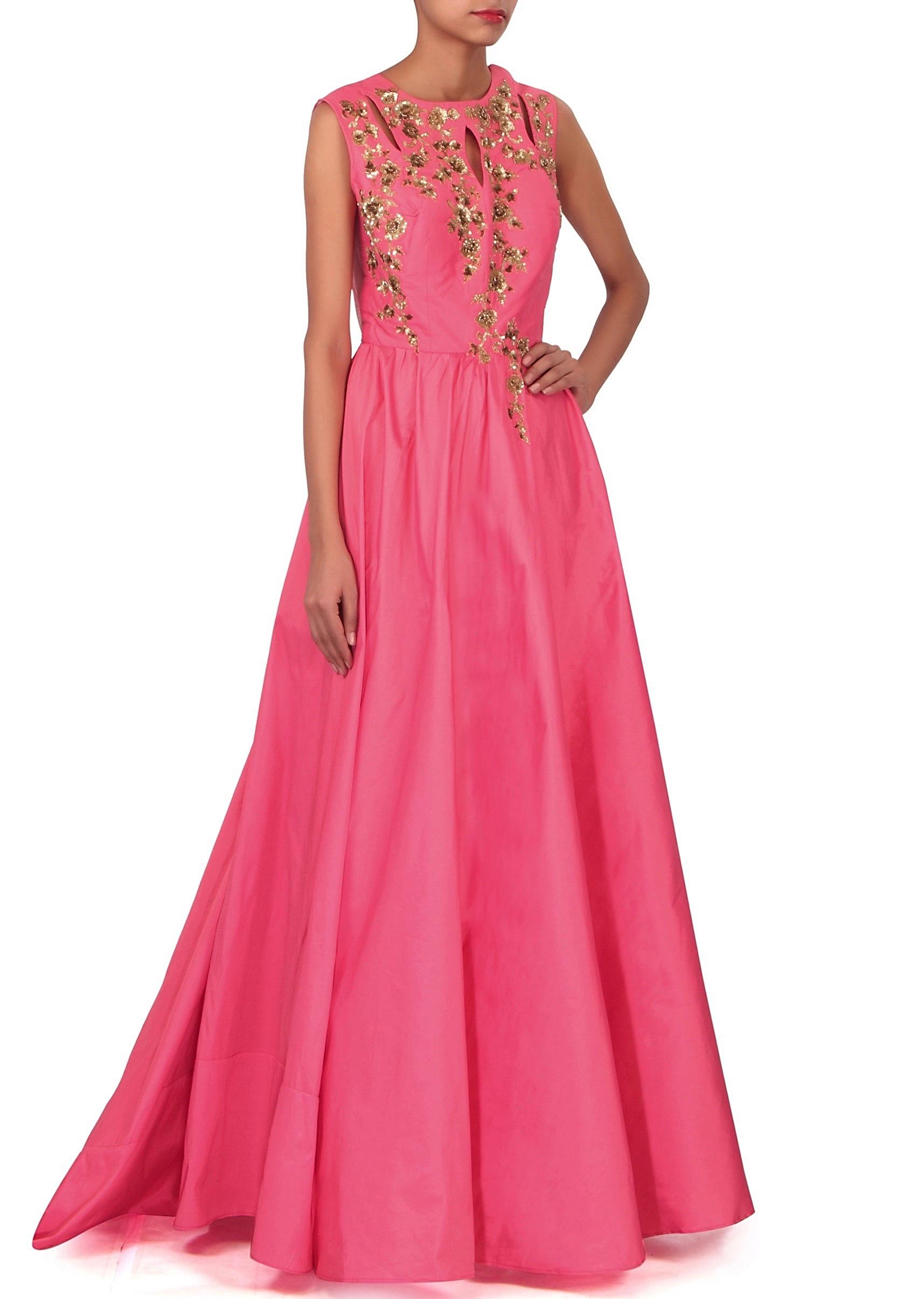 b9c3e6434c Pink dress with sequin embellished bodice only on Kalki