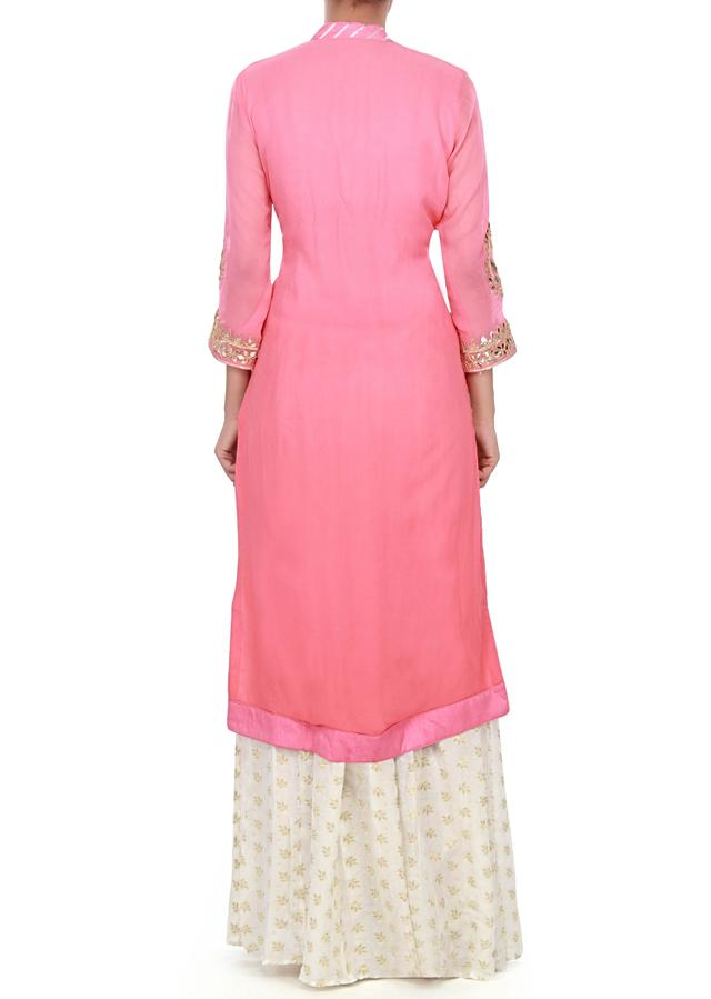 Pink straight suit in gotta patch work only on Kalki