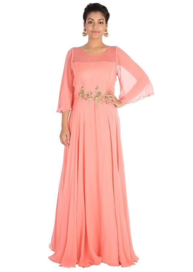 Rouge Pink Gown Online - Kalki Fashion