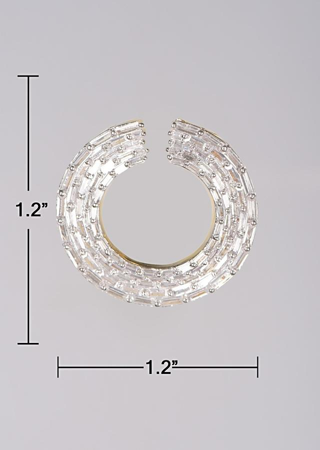 Silver Plated Studs With Bugle Beads In Round Pattern Online - Kalki Fashion