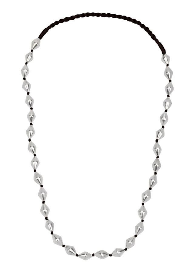 Silver Handmade Necklace With Beads Made In Sterling Silver By Sangeeta Boochra