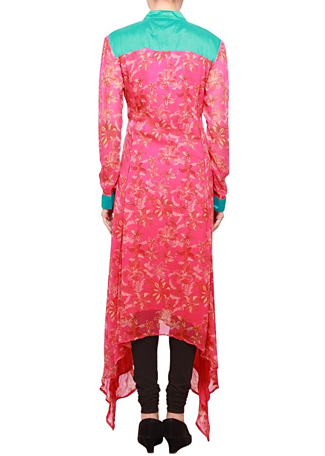 Tango pink kurti embellished in resham embroidery only on kalki