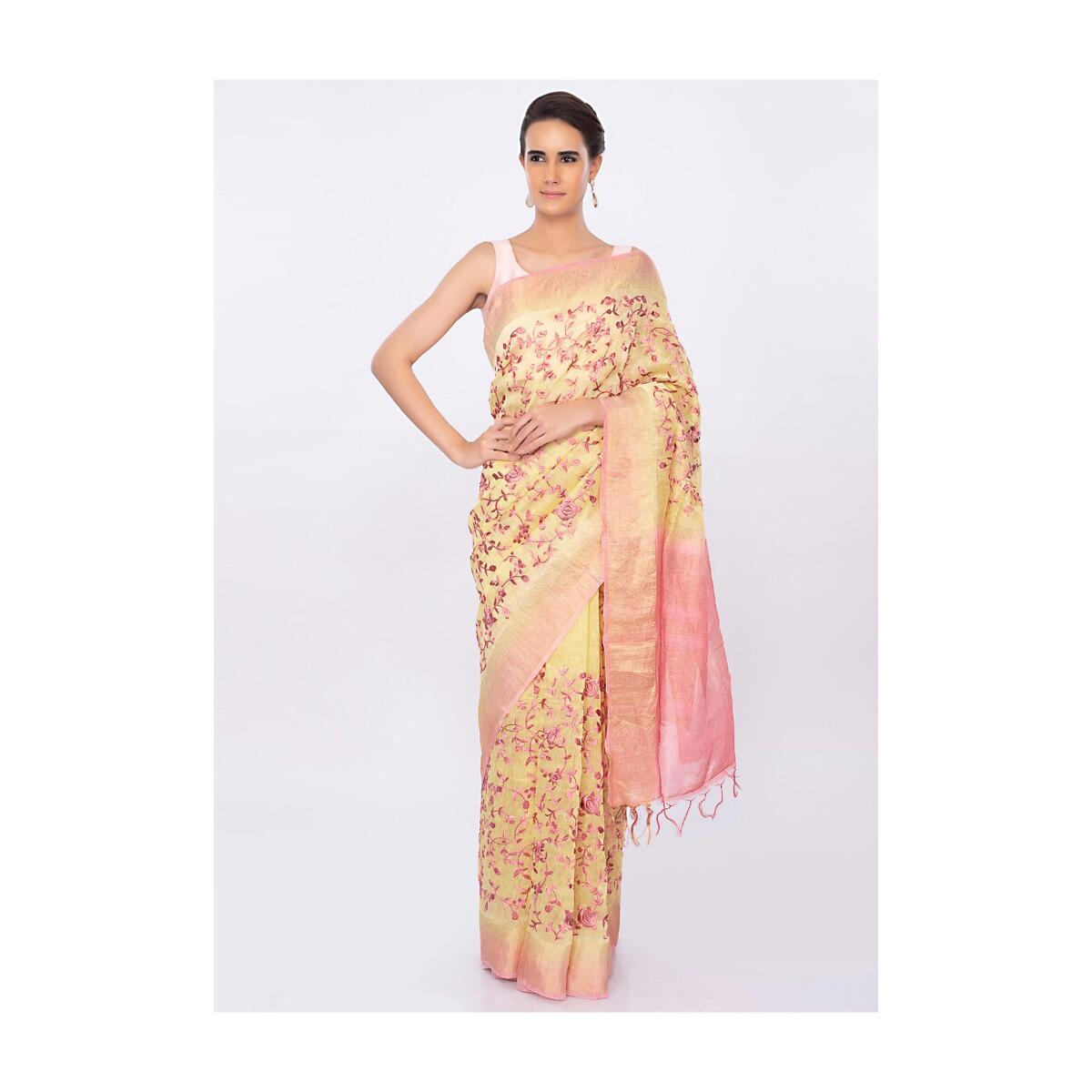 Other Women's Clothing Precise New Peach Linen 3 Piece Semi Stitched Embroidered Suit Embroidery Uk Sellers.