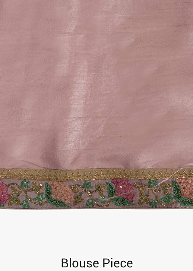 Yellow Saree In Satin Silk Decorated With Sequin And Resham Embroidered Work Online - Kalki Fashion