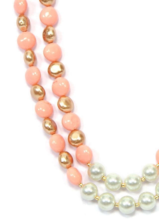 2 Lines White Pink And Gold only on Kalki