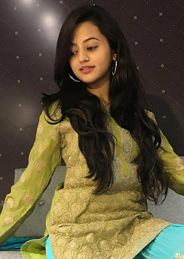 Helly Shah sharara suit thread work with contrasting pine green and arctic blue colors only on Kalki