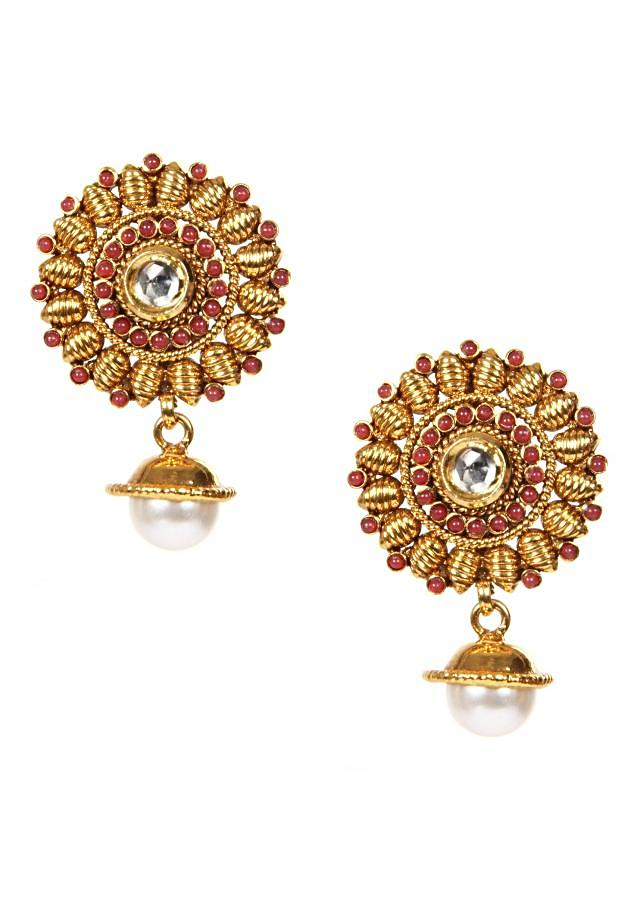 Antique Earrings With Pearl Drop