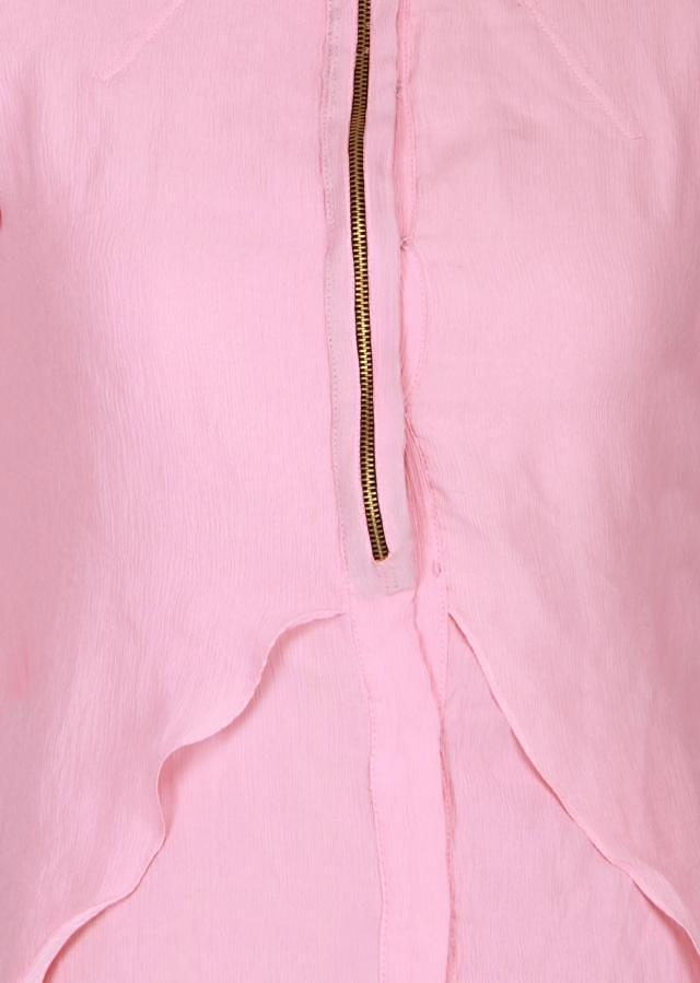 Baby pink a-symmetrical kurti featured in chiffon only on Kalki