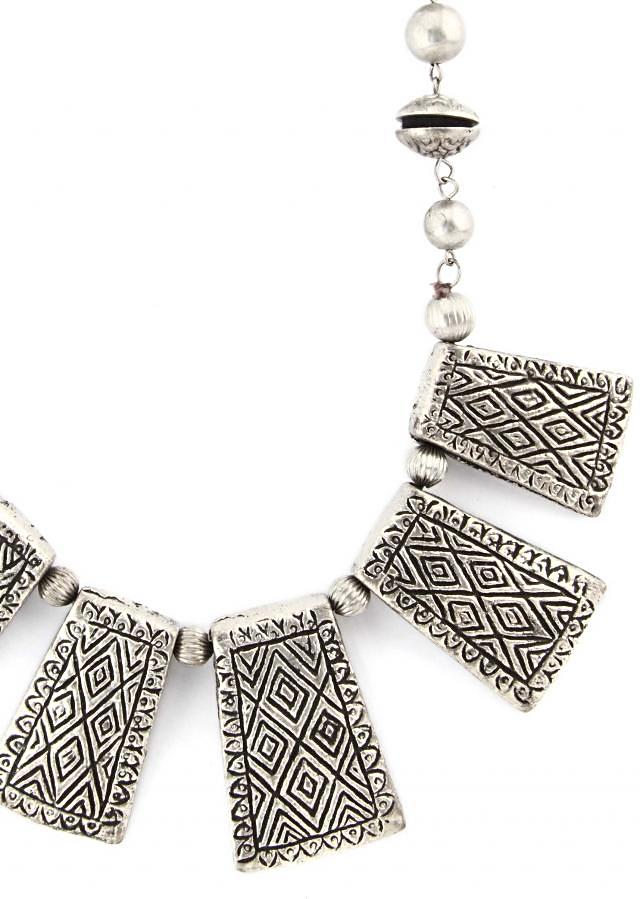 Black and grey necklace enhanced in pendent only on Kalki