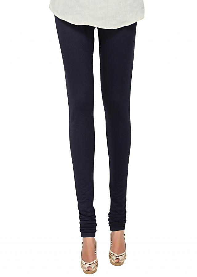Black cotton hosiery legging only on Kalki