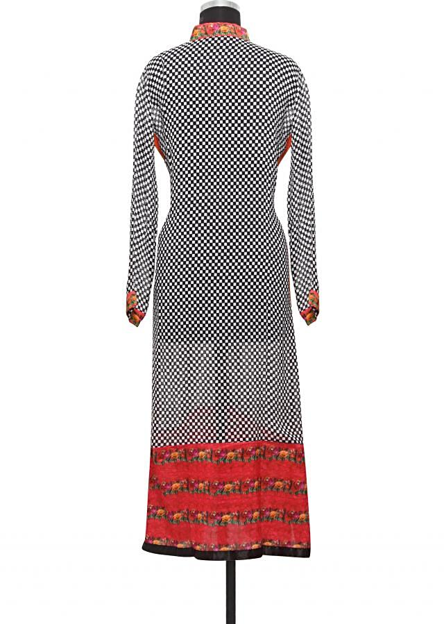 Black georgette printed  kurti  only on Kalki
