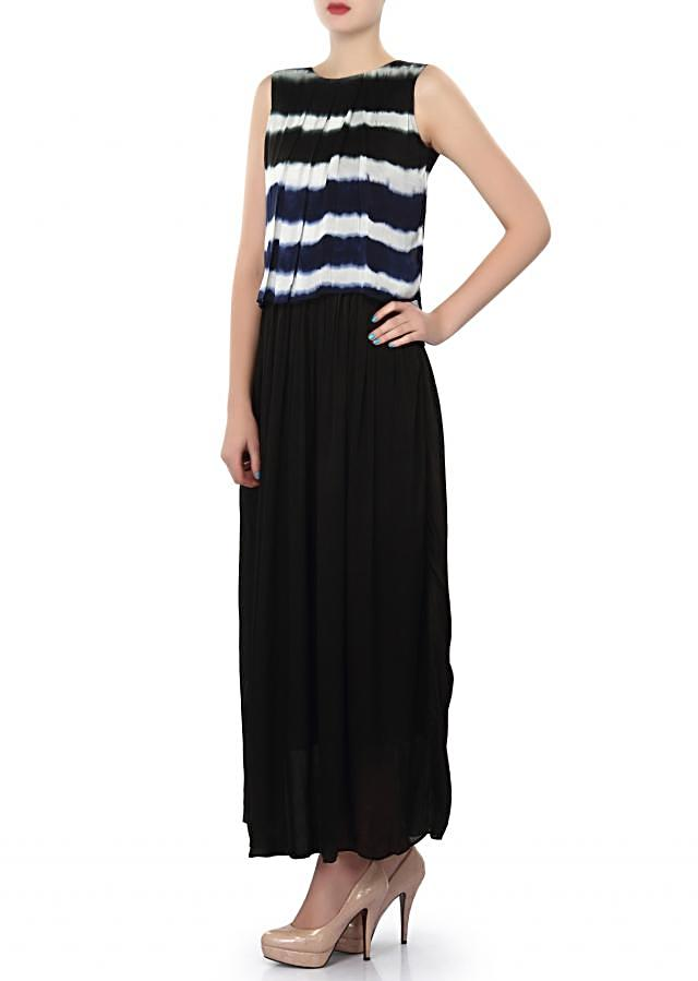 Black kurti adorn in pleats only on Kalki